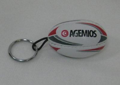 Porte clés ballon de rugby AGEMIOS