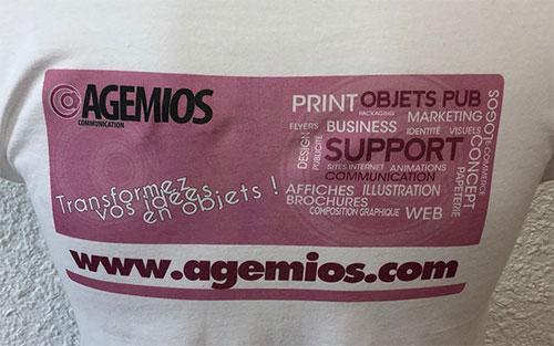 T-shirt impression numérique directe